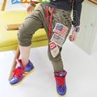 กางเกงขายาวธงอเมริกา-สีเขียวทหาร-(5-ตัว/pack)