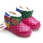 รองเท้าผ้าใบสตรอเบอร์รี่-ลายจุด-สีชมพู-(6-คู่/แพ็ค)