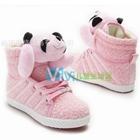 รองเท้าผ้าใบหุ้มข้อ-แพนด้านุ่มนิ่ม-สีชมพู-(7-คู่/แพ็ค)