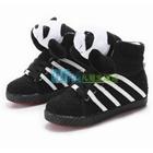 รองเท้าผ้าใบหุ้มข้อ-แพนด้านุ่มนิ่ม-สีดำ-(7-คู่/แพ็ค)