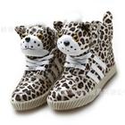 รองเท้าผ้าใบหุ้มข้อ-เสือน้อย-สีน้ำตาล-(7-คู่/แพ็ค)