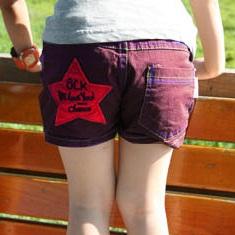 กางเกงขาสั้น-Stars-สีม่วง-(4size/pack)