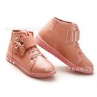 รองเท้าผ้าใบหุ้มข้อ-โบว์เพชร-สีชมพู-(6-คู่/แพ็ค)