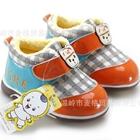 รองเท้าผ้าใบน้องหมีอินเดียนแดง-สีส้ม-(4-คู่/แพ็ค)