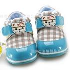 รองเท้าผ้าใบน้องหมีอินเดียนแดง-สีฟ้า-(4-คู่/แพ็ค)