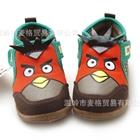 รองเท้าผ้าใบนกหน้าใหญ่-สีน้ำตาล-(6-คู่/แพ็ค)