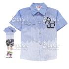 เสื้อเชิ๊ตแขนสั้น-สีฟ้า-(4size/pack)
