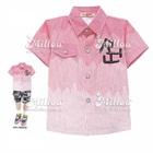 เสื้อเชิ๊ตแขนสั้น-สีชมพู-(4size/pack)