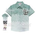 เสื้อเชิ๊ตแขนสั้น-สีเขียว-(4size/pack)