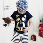 เสื้อยืด-Together-Panda-สีน้ำเงิน-(5size/pack)