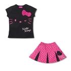ชุดเสื้อกระโปรง-Hello-Kitty-สีดำ-(5size/pack)