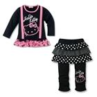 ชุดเสื้อกางเกง-Hello-Kitty-สีดำ-(5size/pack)