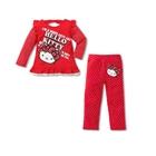 ชุดเสื้อกางเกง-Hello-Kitty-สีแดง-(5size/pack)