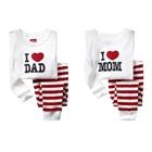 ชุดเสื้อกางเกง-I-love-mom-dad-คละแบบ-(12-ตัว/pack)