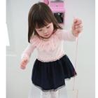เดรสคุณหนูแขนยาว-สีชมพู-(10-ตัว/pack)