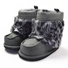 รองเท้าเด็กเอสกิโมปุกปุย-สีเทาดำ-(6-คู่/แพ็ค)