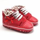 รองเท้าเด็กกระต่ายโบว์แดง-(6-คู่/แพ็ค)