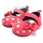 รองเท้าเด็กโบว์ใหญ่ลายจุด-(6-คู่/แพ็ค)
