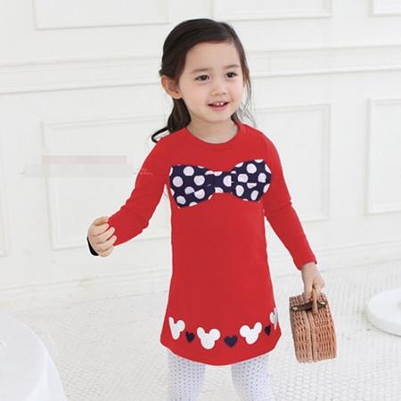 เดรส โบว์ของ Minnie Mouse สีแดง (4 ตัว/pack)