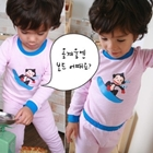 ชุดนอนลิงน้อยเล่นสกี-สีชมพู-(5-ตัว/pack)
