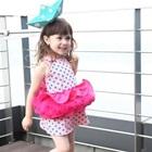เดรสแขนกุด-Vintage-ลายจุดสีชมพู-(5size/pack)