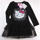 เดรส-Hello-Kitty-ขยิบตา-สีดำ-(5-ตัว/pack)