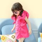 เดรสเจ้าหญิงแขนกว้าง-Vintage-สีชมพู(5size/pack)