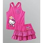 ชุดเสื้อกระโปรงHello-Kitty-สีชมพู-(5-ตัว/pack)