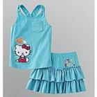 ชุดเสื้อกระโปรงHello-Kitty-สีฟ้า-(5-ตัว/pack)
