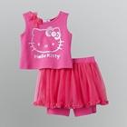 ชุดเสื้อกางเกง-Hello-Kitty-สีชมพูเข้ม-(5-ตัว/pack)