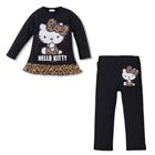 ชุดเสื้อกางเกง-Kitty-ลายเสือ-สีดำ-(5-ตัว/pack)