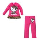 ชุดเสื้อกางเกง-Kitty-ลายเสือ-สีชมพู-(5-ตัว/pack)