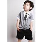 ชุดเสื้อกางเกงนักเรียนอังกฤษ-สีเทา-(6-ตัว/pack)