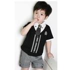 ชุดเสื้อกางเกงนักเรียนอังกฤษ-สีดำ-(6-ตัว/pack)