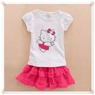 ชุดเสื้อกระโปรงนางฟ้าคิตตี้-สีชมพู-(5-ตัว/pack)