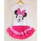 ชุดเสื้อกระโปรง-Minnie-หน้าหวาน-สีขาว-(5-ตัว/pack)