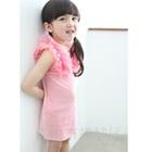 เดรสเจ้าหญิงแขนฟู-สีชมพู-(5size/pack)