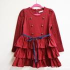 เดรสแขนยาวคุณนายจิ๋ว-สีแดง-(5size/pack)