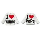 เสื้อยืดแขนยาว-I-LOVE-Papa,Mama-สีขาว-(4-ตัว/pack)