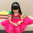 เดรสเจ้าหญิงอองฟอง-สีชมพูเข้ม-(5ตัว/pack)