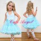 เดรส-Cute-Angel-ลายจุด-สีฟ้า-(4ตัว/pack)