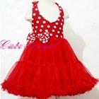 เดรส-Cute-Angel-ลายจุด-สีแดง-(4ตัว/pack)