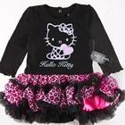 ชุดเสื้อกระโปรงคิตตี้ลายเสือ-สีดำ-(5-ตัว/pack)