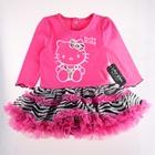 ชุดเสื้อกระโปรงคิตตี้ลายเสือ-สีชมพู-(5-ตัว/pack)