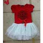เดรส-Flower-Girl-สีแดง-(5ตัว/pack)