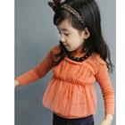 เสื้อแขนยาวคุณหนูอังกฤษ-สีส้ม-(5size/pack)