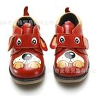 รองเท้าเด็กหมีหมาน้อย-สีแดง-(5-คู่/แพ็ค)