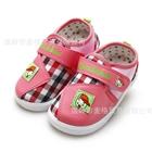 รองเท้าเด็กลายตาราง-สีชมพู-(6-คู่/แพ็ค)