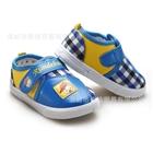 รองเท้าเด็กลายตาราง-สีฟ้า(6-คู่/แพ็ค)