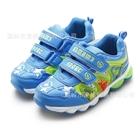 รองเท้าผ้าใบไดโนเสาร์พ่นไฟ-สีฟ้า-(6-คู่/แพ็ค)